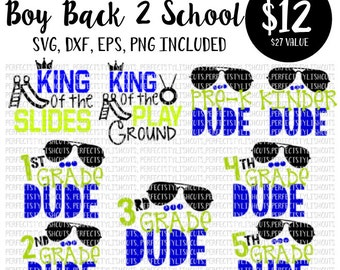 Boy Back To School SVG, DXF, EPS, png Files for Cutting Machines Cameo or Cricut - Teacher Svg, School Svg, Elementary Svg, Preschool Svg