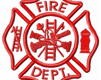 Fire Department Machine Embroidery Design