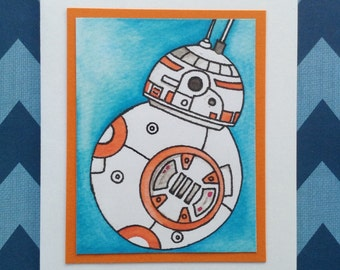 Star Wars BB8 Notecards, Birthday Thank You Cards