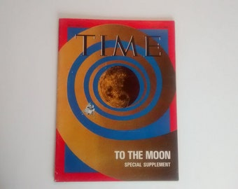 Vintage Time Magazine to the Moon Special Supplement