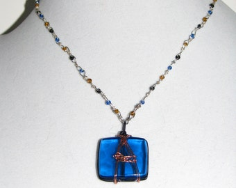 Blue and Copper A Necklace