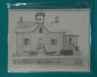 Cedar Point Lighthouse, OH Note card Set of 5