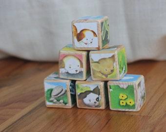 6 The Poky Little Puppy Wooden Blocks