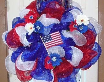 Beautiful 4th of July Wreath