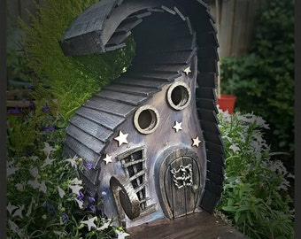 Old Creaky Witch on the hill birdhouse/bird house /handmade /Garden art /bird houses /birdhouses