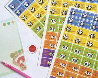 Playful Pandas Reward Stickers