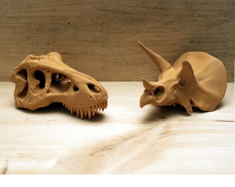 Cretaceous Battle!  Tyrannosaurus vs Triceratops!  3D Printed in the USA!  FREE Shipping! Jurassic Park Dinosaurs Jurassic World