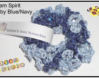 Baby Blue and Navy Scrunchie, baby blue, navy, Team Spirit