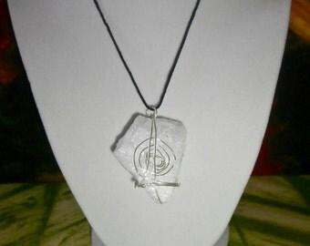 Spiral Aquamarine Necklace