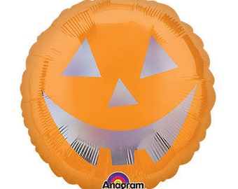 "Halloween Pumpkin 18"" Holographic Balloon"
