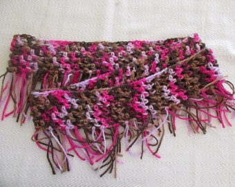 Pink and Brown Infinity Scarf