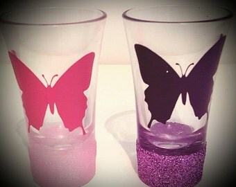 butterfly shot glasses