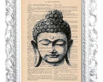 Buddha 5. Print on French publication of illustration. 28x19cm.