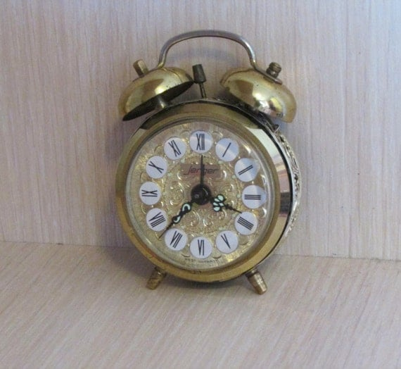 Vintage german alarm clock Jerger alarm clock Alarm desk clock