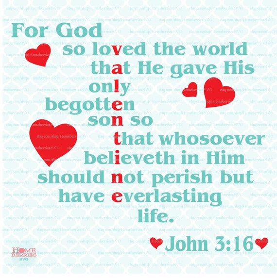 God Svg For God So Loved The World Scripture Svg Religious