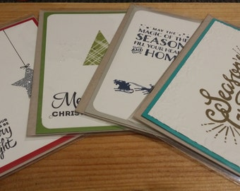 20% OFF SALE - Christmas Cards - Set of 4