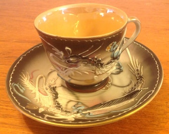 Fairy dragon cup and saucer