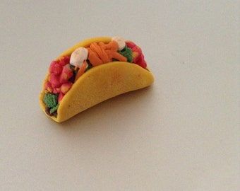 Miniature Polymer Clay Taco