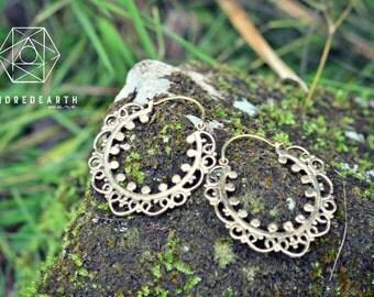 Indian Boho Earrings, Sacred Geometry, Brass Jewelry, Tribal Earrings, Indian Jewelry, Ethnic Jewelry, Bohemian Jewelry, Yoga Jewelry