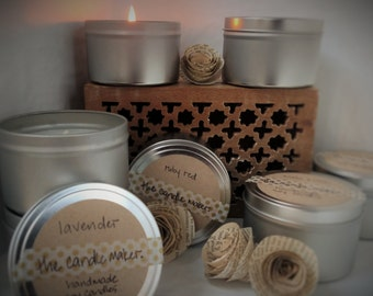 soy scented candles: all available scents