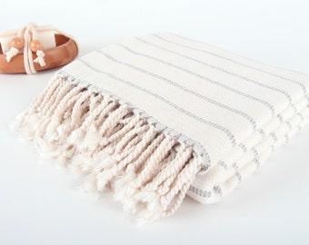 "SALE%50OFF HANDMADE TURKISH Bamboo Towel, 35""x65"", 90x170cm - Handmade Peshtemal - Beach Towel, Spa, Pool, Sauna, Hammam, Yoga Towel"