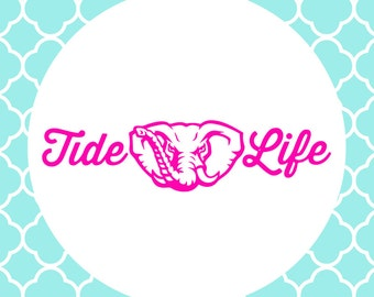 Tide Life Cutting Files in Svg, Eps, Dxf, Png for Cricut & Silhouette   Alabama Vector   Bama SVG   Roll Tide Decals