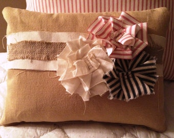 Shabby Chic Canvas Pillow