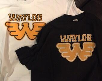 "Waylon Jennings ""I've always been crazy"" T-Shirt Country Music Shirt Country Shirt"