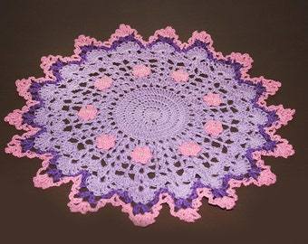 Sand Castle,Doliy,Hot Pink,Dark Purple,Violet,Thread,Crochet