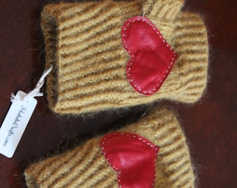 Valentine's day gift, wrist warmers, handknit arm warmers