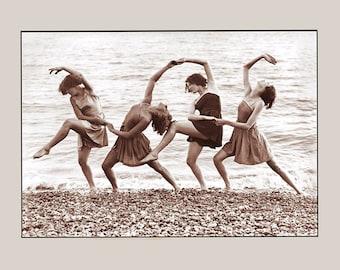 Vintage Photo - Four Beach Dancers