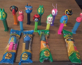 Lot of Bugs Pez Dispensers