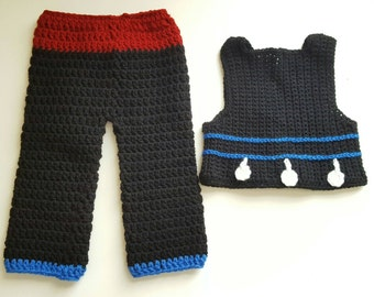 Crochet baby boy Hmong outfit