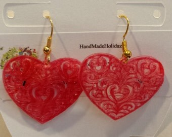 Filigree Heart Earrings Perfect for Valentine's Day