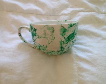 Green Water Color Mug