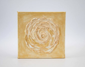 Gold Rose Acrylic Painting