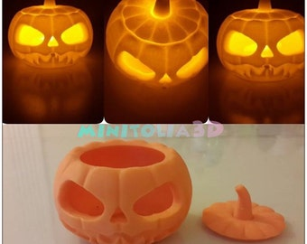 Halloween Pumpkin Tealight Holder