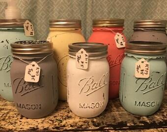 Custom Painted Ball Jars