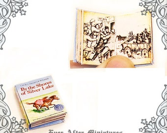 Little House on the Prairie Vol 5 Dollhouse Miniature Book – 1:12 By the Shores of SILVER LAKE Laura Ingalls Wilder Book Printable DOWNLOAD