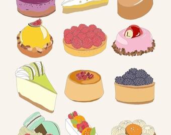 Cake Lovers art print 8 x 10