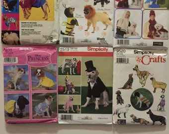 Dog coats and costume patterns