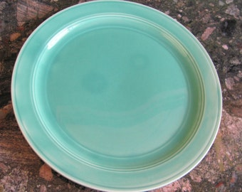 Vintage Mint Green Dinner Plates, Set of Six Plates