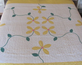 Eight Flowers Antique Quilt