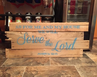 As for me and my house we will Serve the Lord - Wall Hanging