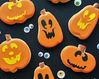 Jack o'lantern Cookies