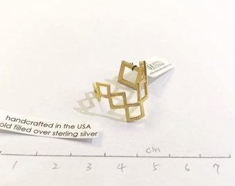 Designer handmade prespective ring(size 7)