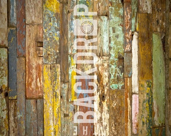 Small Photography Backdrop - Old Planks - 2'x2', 2'x3', 3'x3', 3'x4'