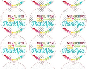 Planner/ Scrapbooking/ JournalingDecorative Stickers/ shop small tags/ thank you tags/ shop small/ support handmamde/ shop handmade