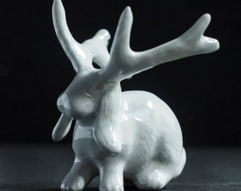Jackalope Tiny Monster , ring stand/ figurine