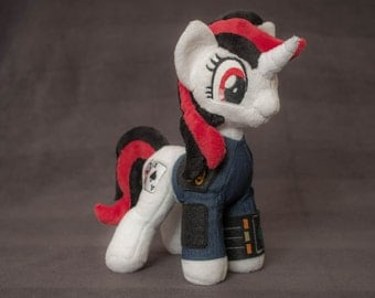 Plush Blackjack - Fallout Equestria: Project Horizons - Custom Pony - Made to Order
